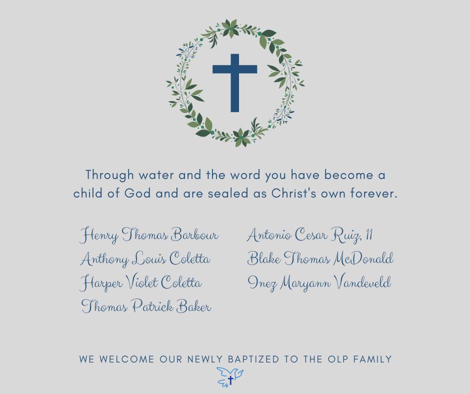 April 2021 Baptisms