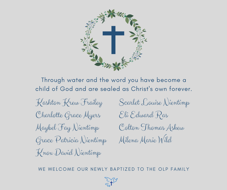 August 2021 Baptisms