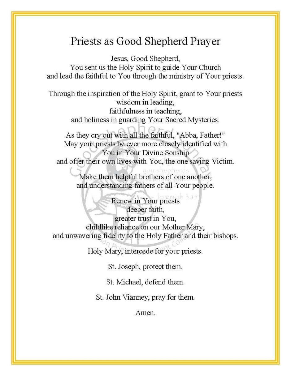 Good Shepherd Prayer 2021