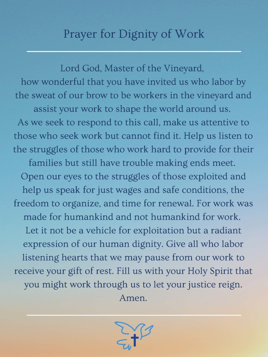 Prayer for Dignity of Work