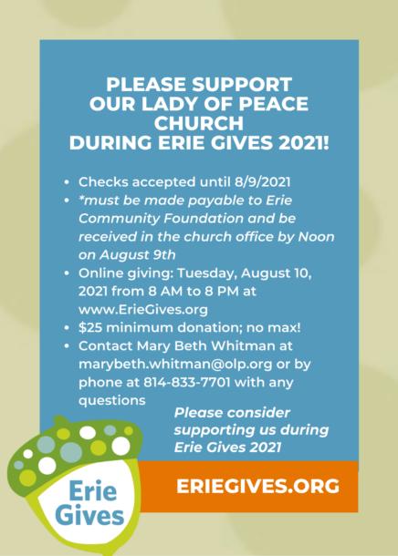 Erie Gives 2021 Website