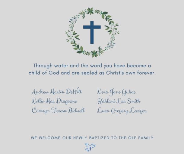 May 2021 Baptisms