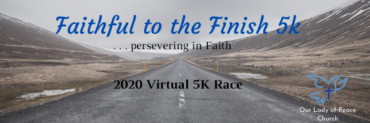 2020 Faithful to the Finish 5k Banner
