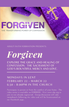 Forgiven Adult Faith Formation Flyer